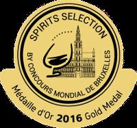 Gold Medal - Concours Mondial De Bruxelles 2016