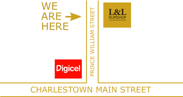 We Are Here - Map to L&L Rumshop
